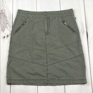 Columbia Army Green Zip Pocket Skirt